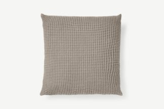 An Image of Grove 100% Cotton Cushion, 50 x 50cm, Stone