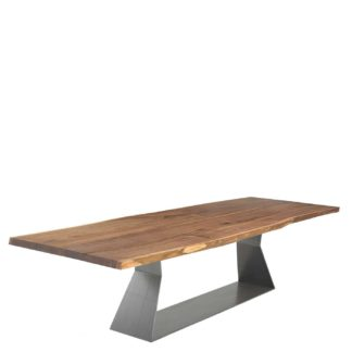 An Image of Riva 1920 Bedrock Plank-C Dining Table, Terry Dwan