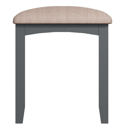An Image of Gilford Wooden Dressing Stool In Grey