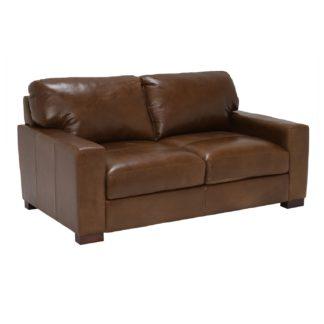 An Image of Lorenza Leather Loveseat, Fibre Seats