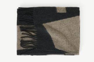 An Image of Lafant Wool Throw, 125 x 170cm, Charcoal Grey