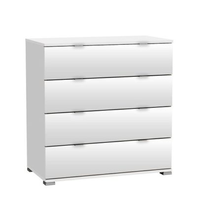 An Image of Dylan Chest Of Drawers In Pearl White With 4 Drawers