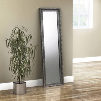 An Image of Allegro Pewter Dress Mirror - 38 x 128 cm