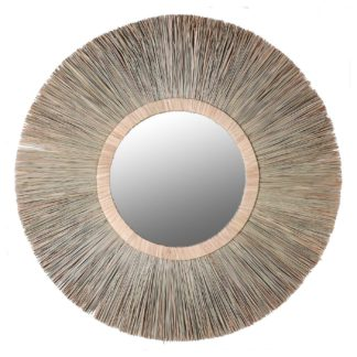 An Image of Round Wicker Mirror