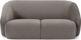 An Image of Blanca 2 Seater Sofa, Alaska Grey Velvet