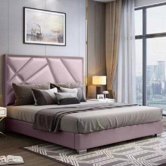 An Image of Cherokee Plush Velvet Single Bed In Pink