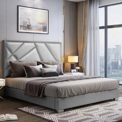 An Image of Cherokee Plush Velvet Single Bed In Grey