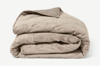An Image of Tabitha Luxury Quilted Bedspread, 225 x 220cm, Mink