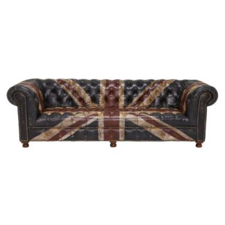 An Image of Timothy Oulton Westminster Button 3 Seater Chesterfield Sofa, Jack'dn Broken