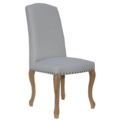 An Image of Nepean Fabric Luxury Dining Chair In Natural