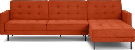 An Image of Rosslyn Right Hand Facing Chaise End Click Clack Sofa Bed, Sadona Orange