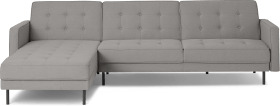 An Image of Rosslyn Left Hand Facing Chaise End Click Clack Sofa Bed, Cinder Grey