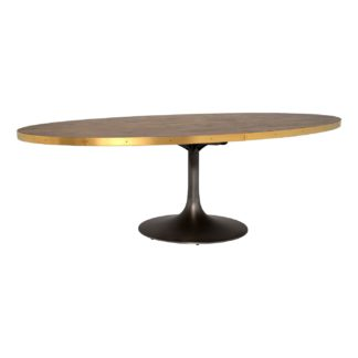 An Image of Talula Oval Dining Table, Light Burnt Oak