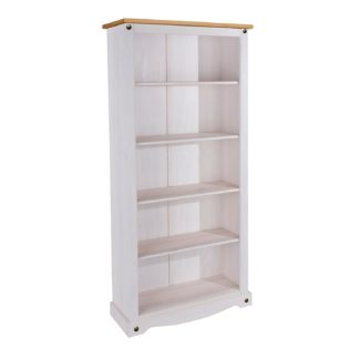 An Image of Corona White Tall Bookcase White