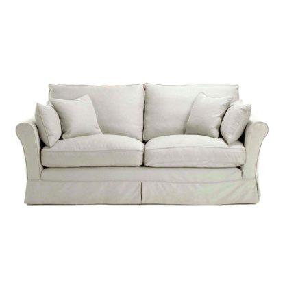 An Image of Berkeley Fabric Loose Covers Medium Sofa