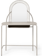 An Image of Oving Metal Dressing Table, Warm Ecru
