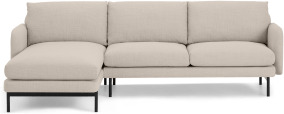 An Image of Miro Left Hand Facing Chaise End Corner Sofa, Oat Weave