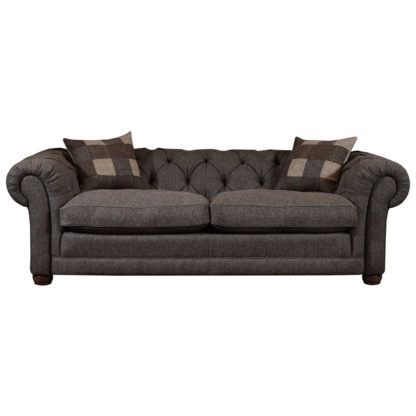 An Image of Harris Tweed Castlebay Midi Chesterfield Sofa