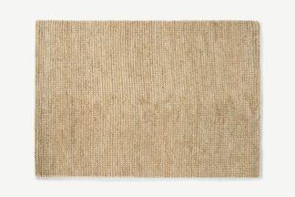 An Image of Mumbi Textured Wool & Jute Rug, Large 160 x 230cm, Natural