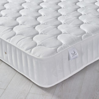 An Image of Neptune Spring Quilted Cotton Fabric Mattress - 2ft6 Small Single (75 x 190 cm)