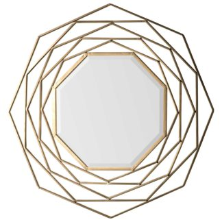 An Image of Bordered Mirror, Gold