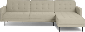 An Image of Rosslyn Right Hand Facing Chaise End Click Clack Sofa Bed, Sandstone