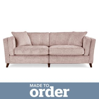 An Image of Arabella 4 Seater Sofa Luxury Chenille Pink