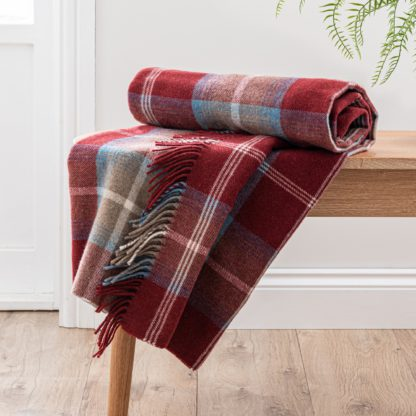 An Image of Oswald Red Throw Red