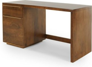 An Image of Anderson Desk, Mango Wood & Brass