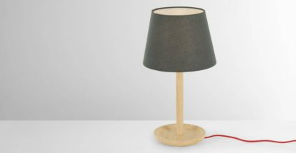 An Image of Moore Table Light, Natural Ash & Grey