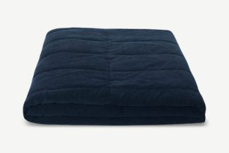An Image of Jovian Quilted Bedspread, 225 x 220cm, Deep Navy