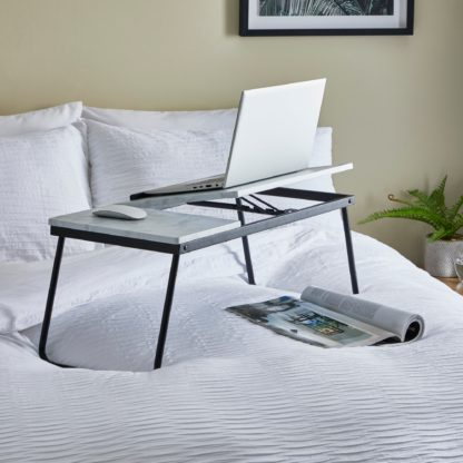 An Image of Dawson Marble Effect Laptop Stand Marble
