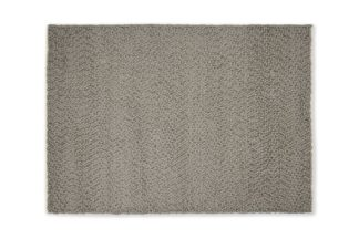 An Image of Berala Textured Wool Rug, Extra Large 200 x 300cm, Dark Taupe