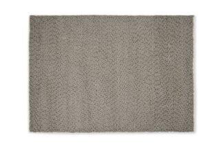 An Image of Berala Textured Wool Rug, Large 160 x 230cm, Dark Taupe