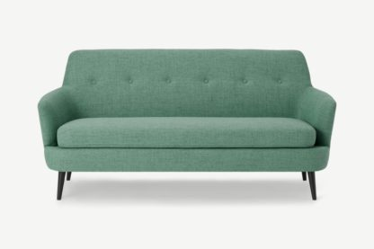 An Image of Verne 3 Seater Sofa, Soft Green