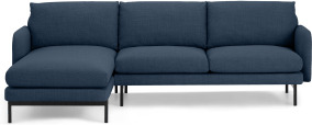 An Image of Miro Left Hand Facing Chaise End Corner Sofa, Midnight Weave