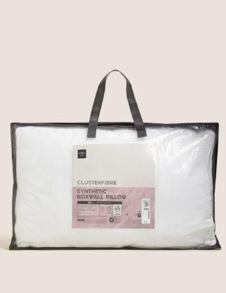 An Image of M&S Clusterfibre Medium Boxwall Pillow