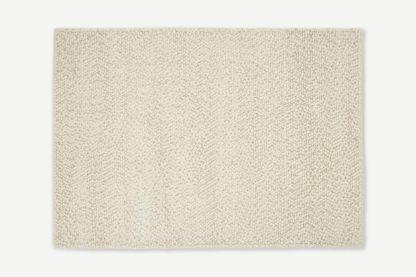 An Image of Berala Textured Wool Rug, Large 160 x 230cm, Ecru