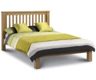 An Image of Wooden Bed Frame 5ft King Size Amsterdam Low Foot End Solid Oak