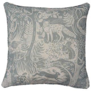 An Image of Woodland Cushion - Blue - 43x43cm