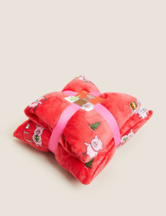 An Image of M&S Percy Pig™ Cushion and Throw Bundle