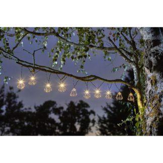 An Image of Solar Diamond String Lights - Set of 10