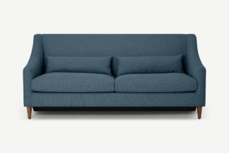 An Image of Herton 3 Seater Sofa Bed, Orleans Blue