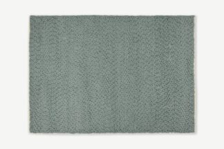 An Image of Berala Textured Wool Rug, Extra Large 200 x 300cm, Blue Slate