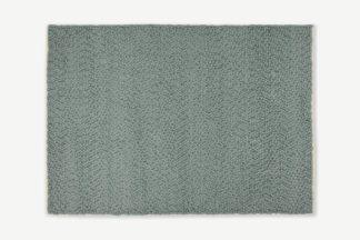 An Image of Berala Textured Wool Rug, Large 160 x 230cm, Blue Slate
