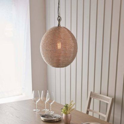 An Image of Vogue Saluzzo 1 Light Pendant Ceiling Fitting Nickel