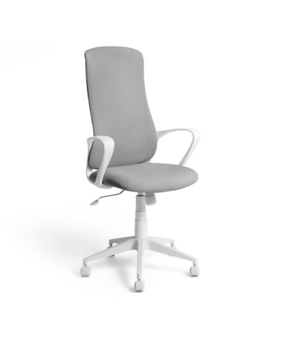 An Image of Habitat Quin Fabric Office Chair - Neutral