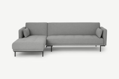 An Image of Harlow Left Hand Facing Chaise End Click Clack Sofa Bed, Mountain Grey
