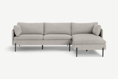 An Image of Zarina Right Hand Facing Chaise End Corner Sofa, Mina Flint Grey