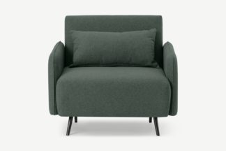 An Image of Hettie Single Sofa Bed, Woodland Green